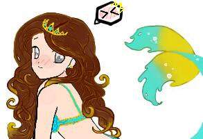 Mermaid Lineart by DestinyBlue by crystalbloom247