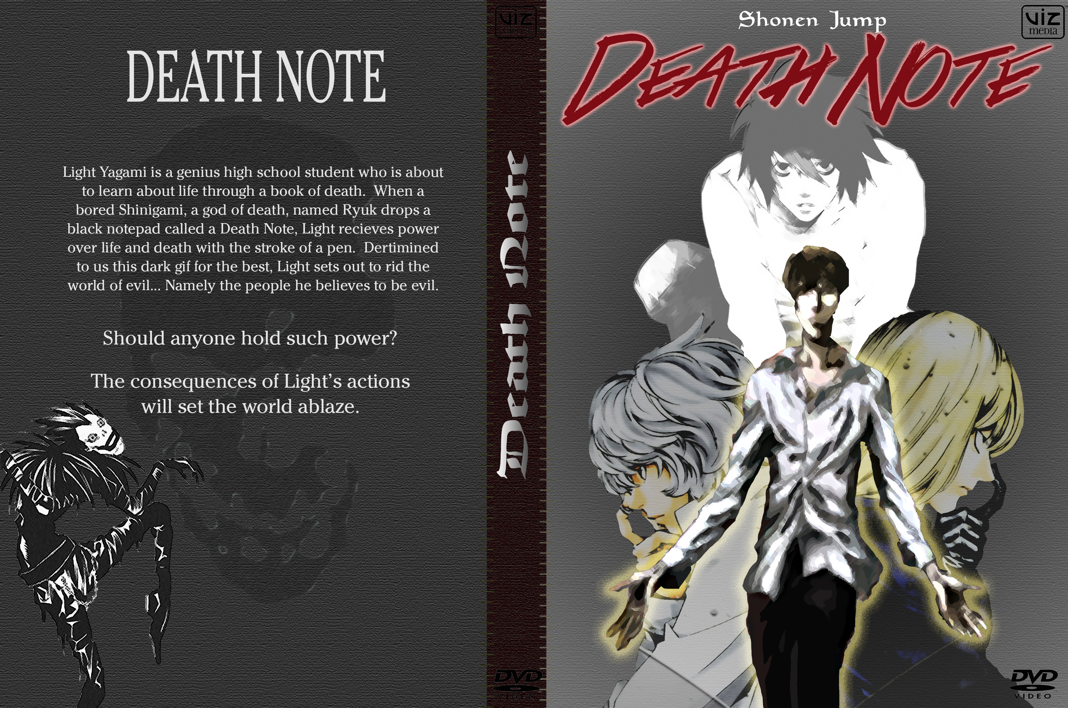 Death Note DVD Cover by CharizardLikesChez on DeviantArt