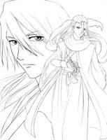 Byakuya Line Art by Yuri-Nikko