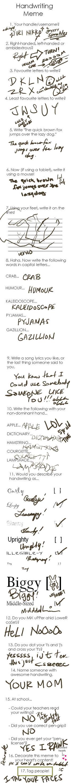 Yuri Does A Handwriting Meme