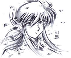 Kurama - Calligraphy Brush by Yuri-Nikko