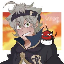 Asta and Nero - Black Clover by lightofthedeep