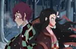 Demon Slayer: Kimetsu no Yaiba-Tanjirou and Nezuko
