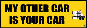 Grand Theft Auto Bumpersticker