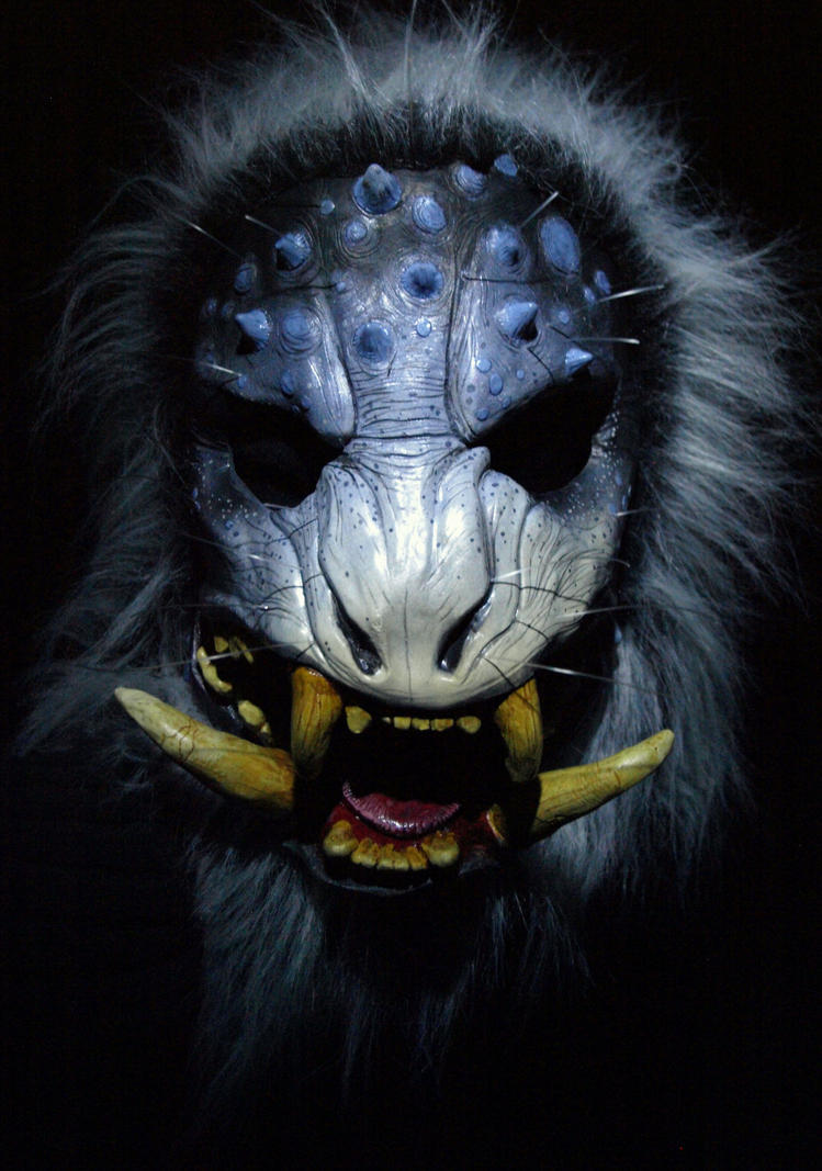 Boar Demon Mask Snow Beast Edition By Mostlymade On Deviantart