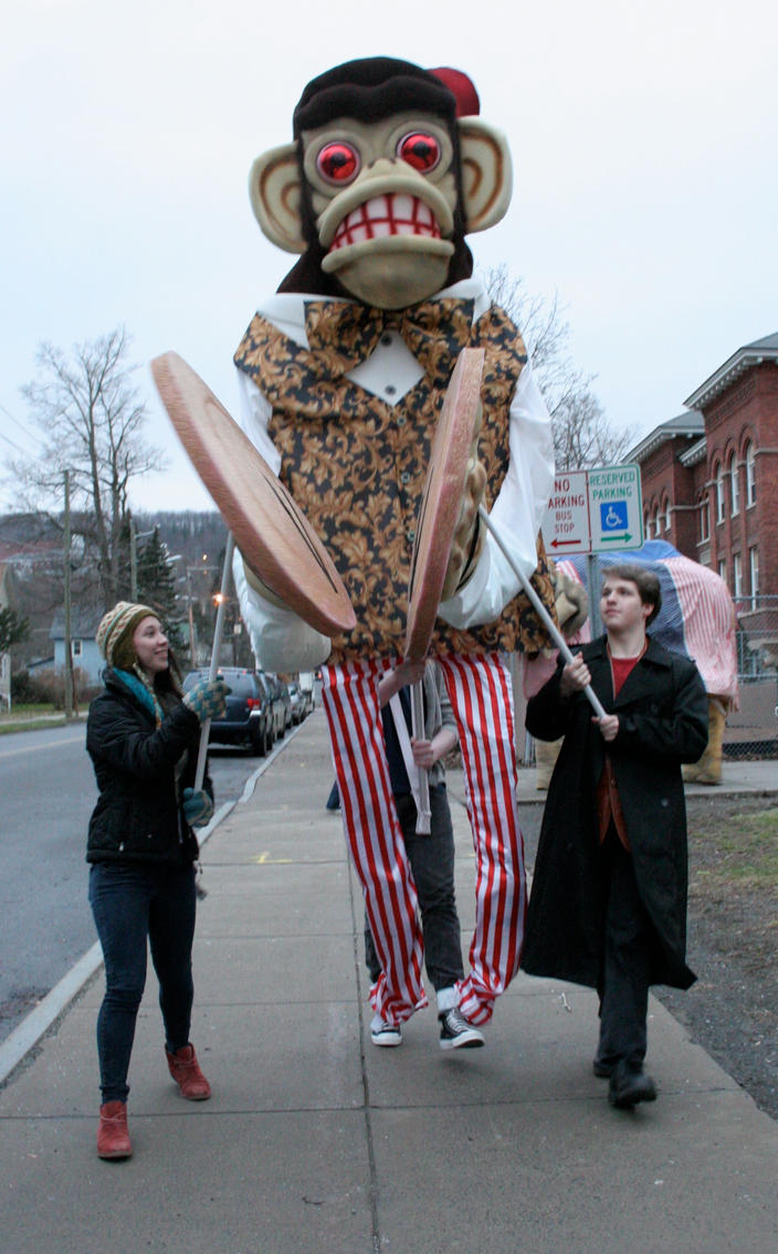 Giant Cymbal Monkey Puppet by mostlymade