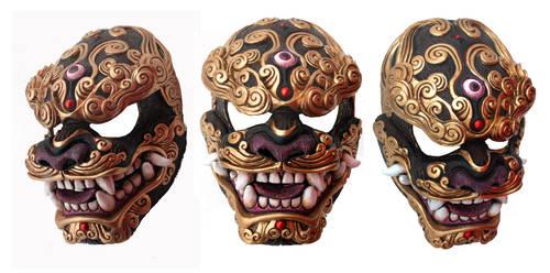 Komainu Kumo Mask by mostlymade