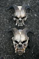Jersey Devil masks by mostlymade