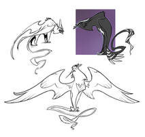 Evil gryphon sketches