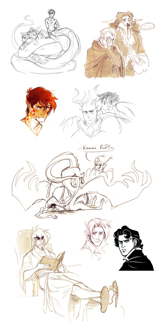 OCs sketches_4 by Drkav