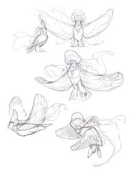 Alkonost sketches by Drkav