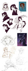 OCs sketches_6 by Drkav