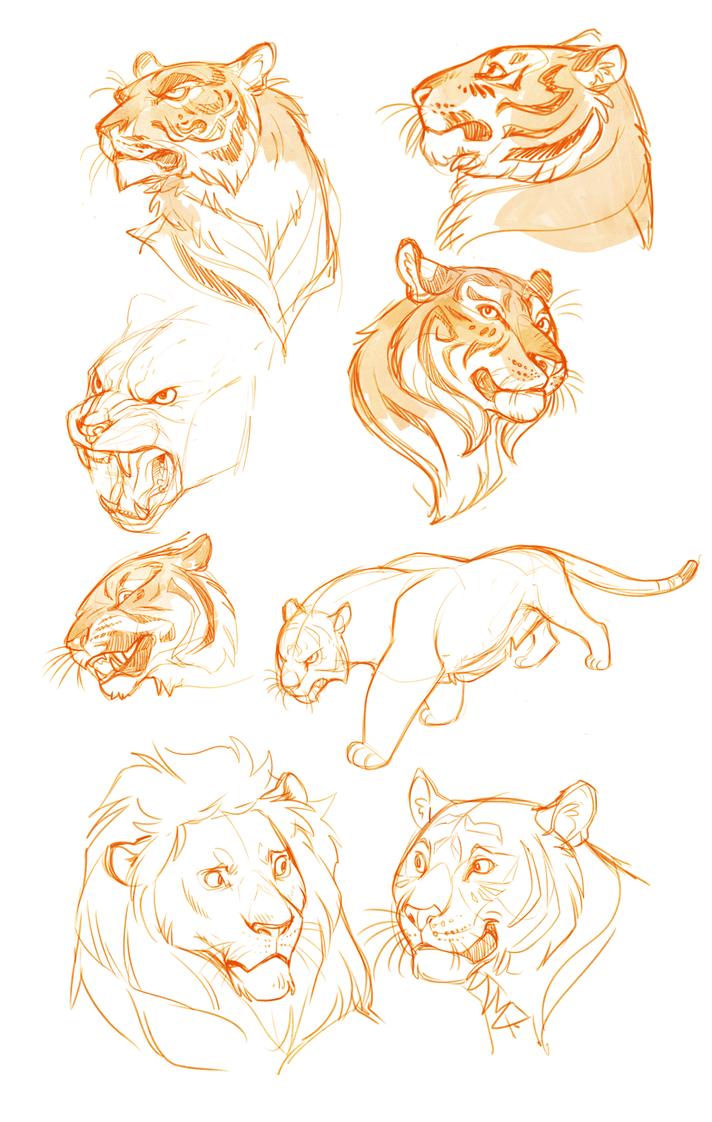baby tiger outline