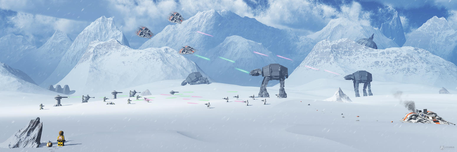 LEGO Star Wars: Battle Of Hoth - panorama render by RiseOfChaos
