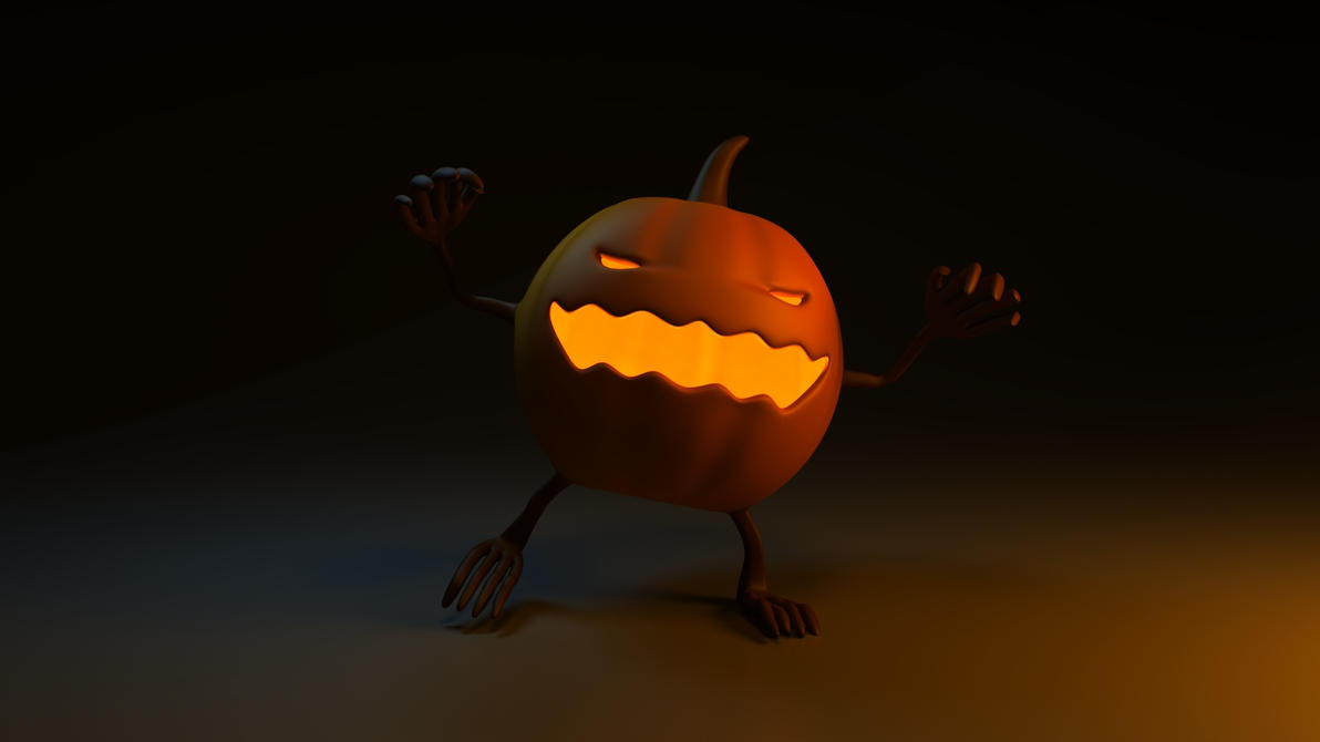 Halloween rendering: Pumpkin monster by RiseOfChaos