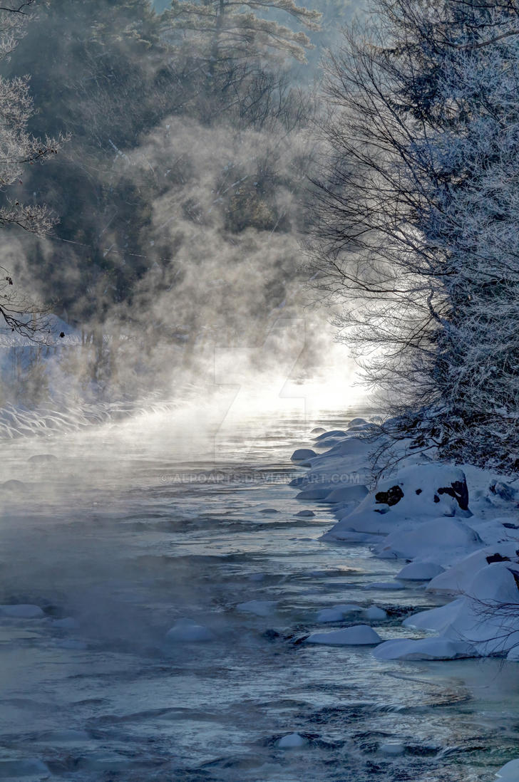 Your Damn Right it was Cold - Ashuelot River, NH by AlpoArts