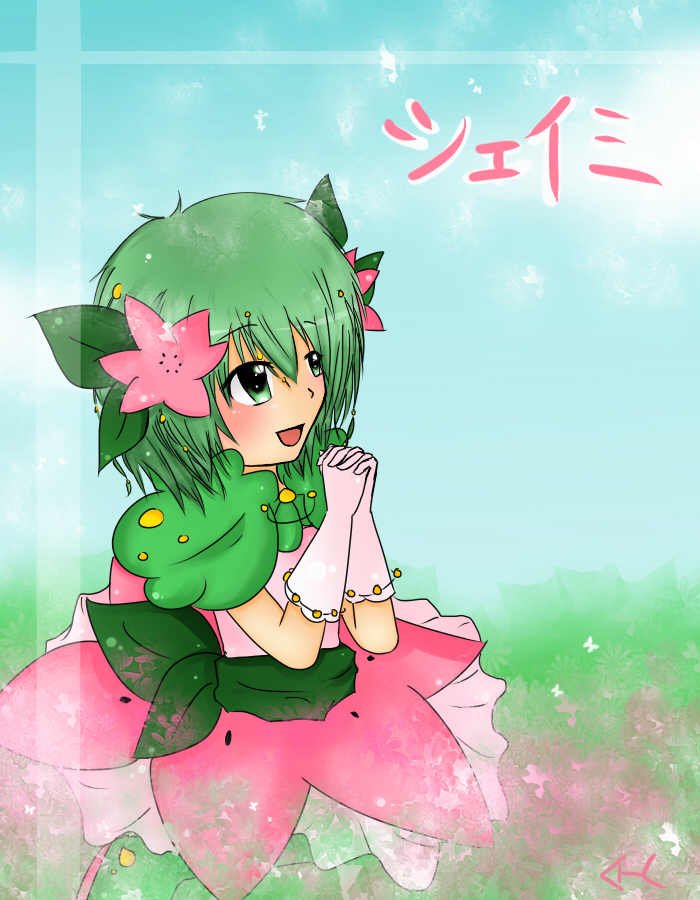 Pokemon - Shaymin Gijinka by HurricaneHoshi on DeviantArt