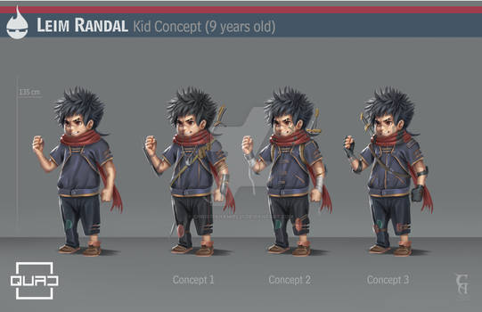 QUAD Leim Randal kid version character design