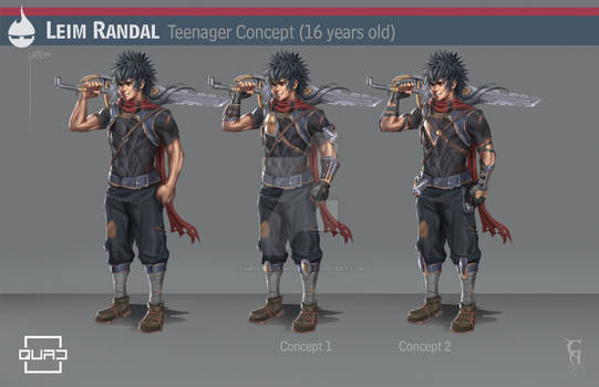 QUAD Leim Randal teen version character design