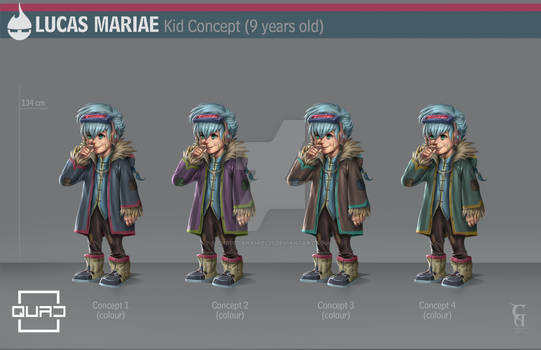 QUAD Lucas Mariae kid version character design