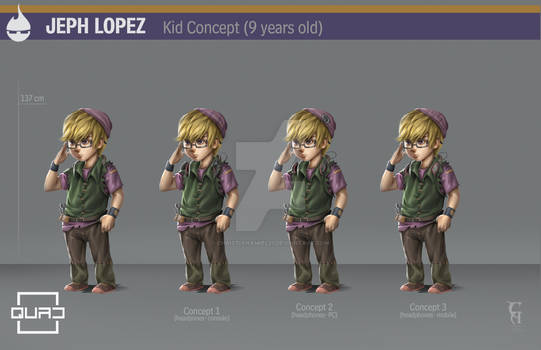 QUAD Jeph Lopez kid version character design