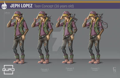 QUAD Jeph Lopez teen version character design