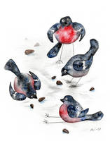 Bullfinches by AviFlatcher