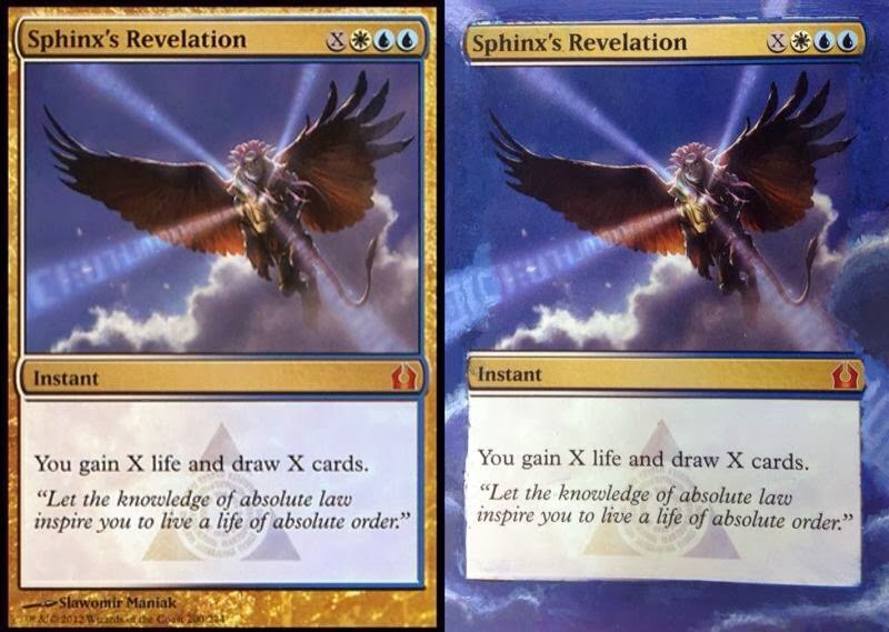 Mtg Card Alter Sphinx S Revelation By Jskamay On Deviantart