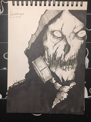 Inktober Day 21 - Scarecrow (Arkham Knight) by Wirrer