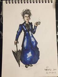 Inktober Day 22 - Missy (Doctor Who) by Wirrer