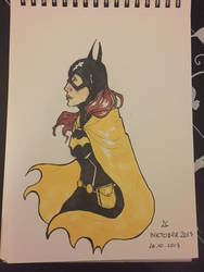 Inktober Day 26 - Batgirl by Wirrer