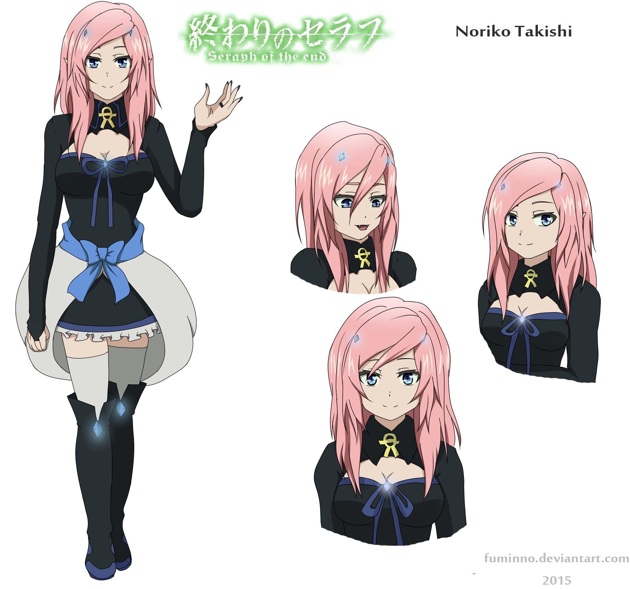 Takishi Noriko OC RPC Owari No Seraph By Fuminno On