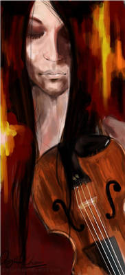The violinist.