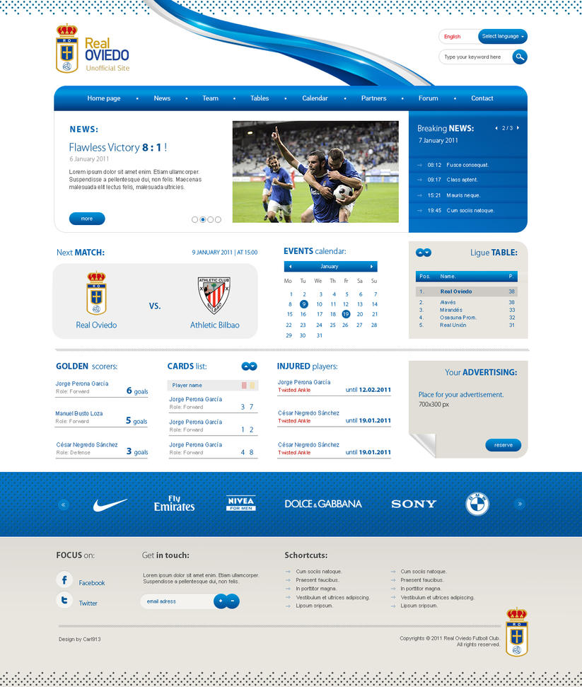 real oviedo website by carl913 d36vwd8 Web Interface Showcase of Inspiration