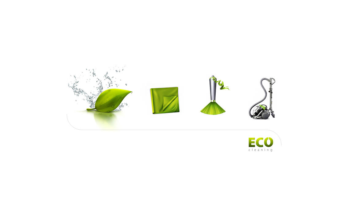 Eco cleaning Icon Set