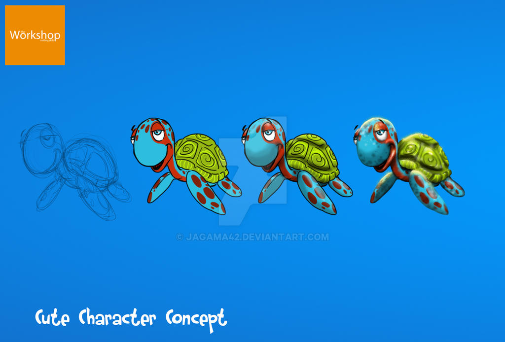 Cute Concept Character by jagama42