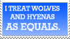 wolves and hyenas are equal by blueharuka