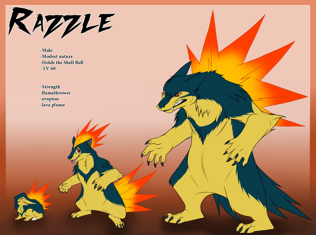 Pokemon Typhlosion Art...