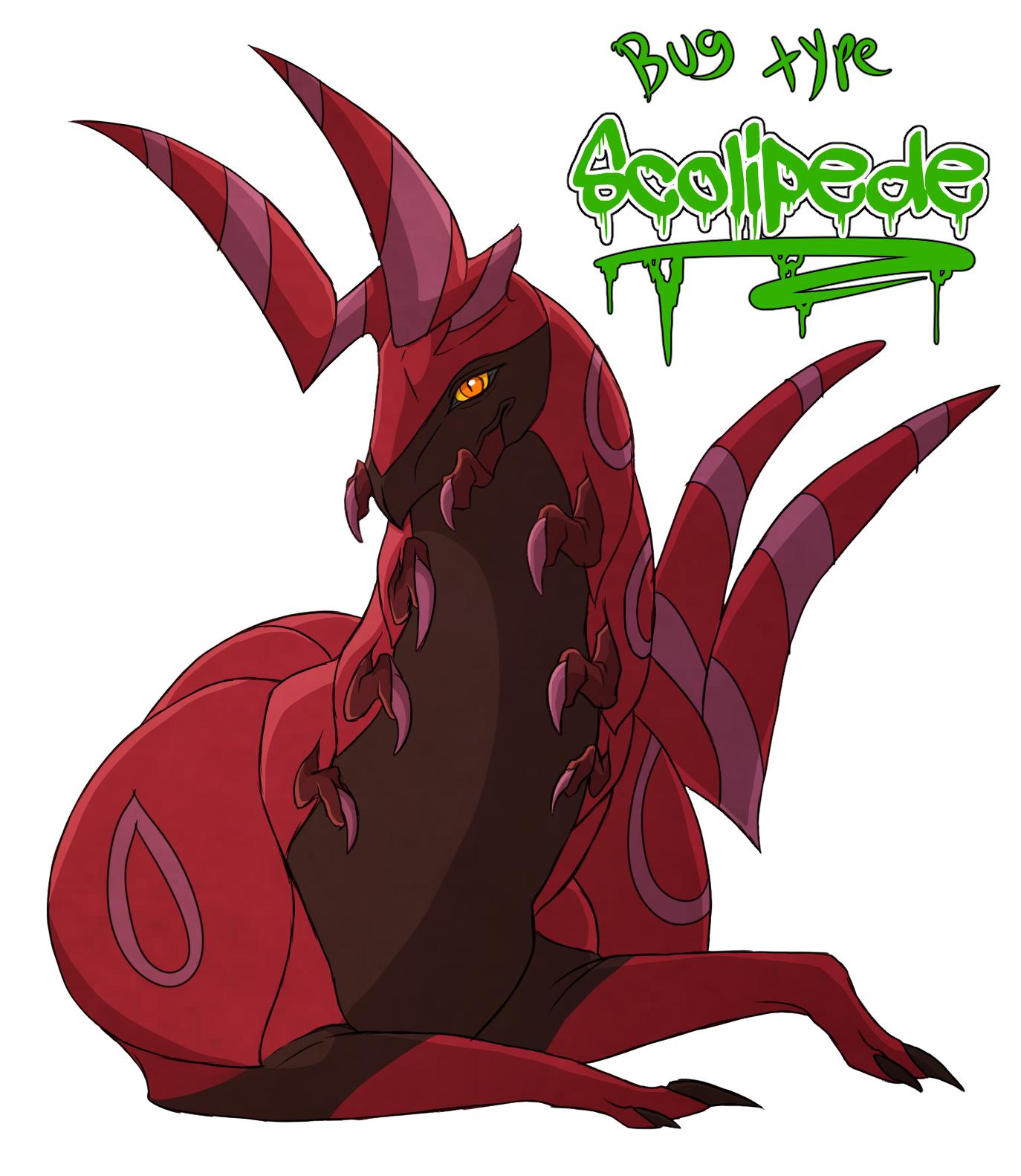 Favorite bug type- Scolipede by blueharuka on DeviantArt