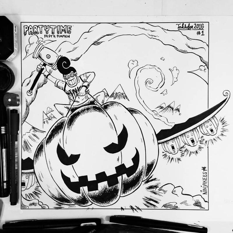 INKTOBER 1 - Fast and Pumpkin
