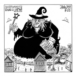 INKTOBER#21 - Big and Witch by N1NJAKEES