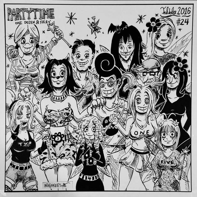 INKTOBER 24 - One Dozen and Fairy