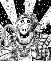 STEAMPUNK ALF by N1NJAKEES