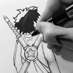 INKING BACKSTAR!