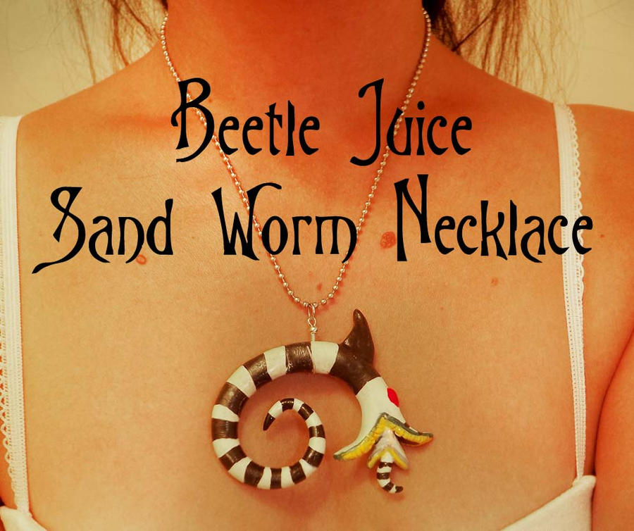 Beetle Juice Sand Worm Clay Charm by TheFr33KShoW