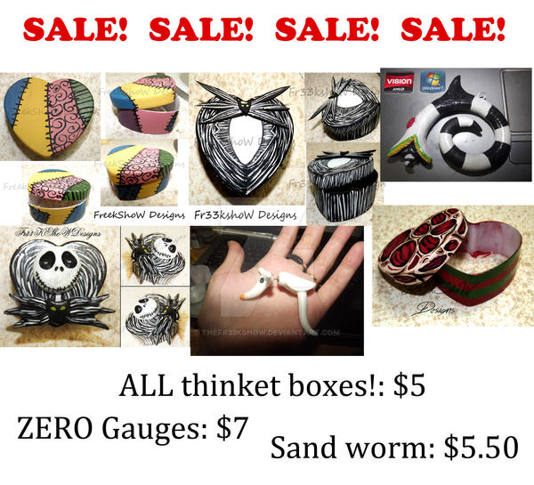 SALE in my ETSY shop by TheFr33KShoW