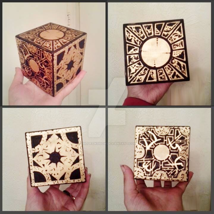 Hellraiser Puzzle Box Hand Painted by TheFr33KShoW