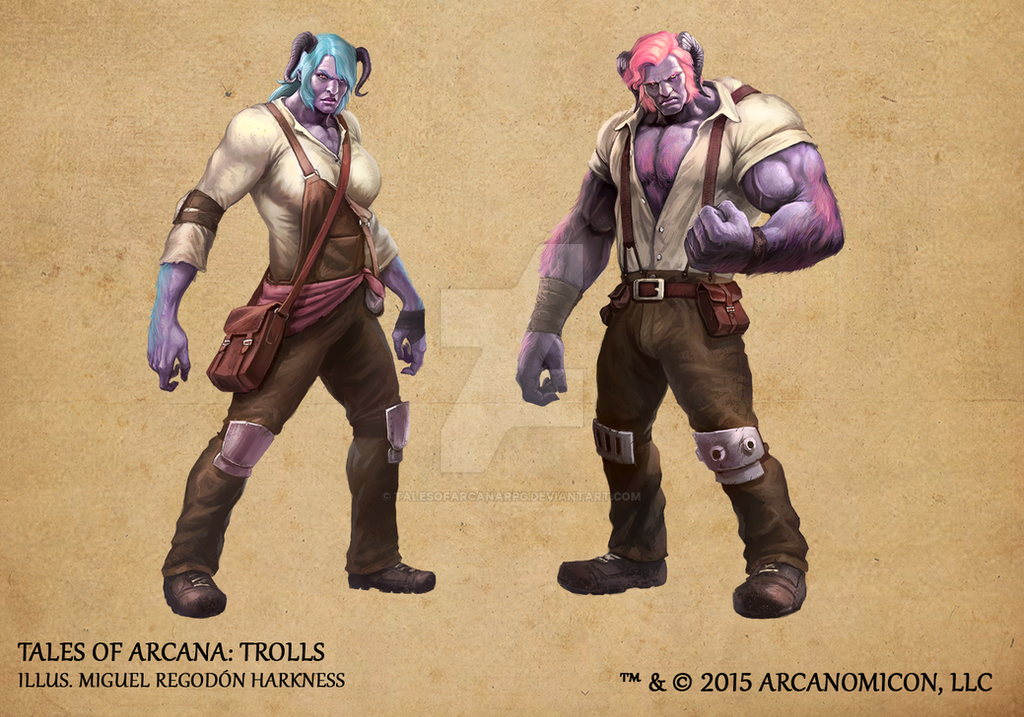 Tales of Arcana 1st Set - Trolls by TalesofArcanaRPG