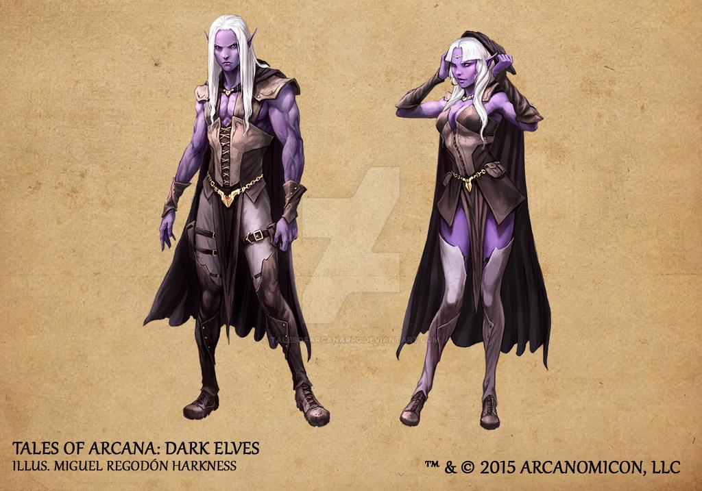 Tales of Arcana 1st Set - Dark Elves by TalesofArcanaRPG