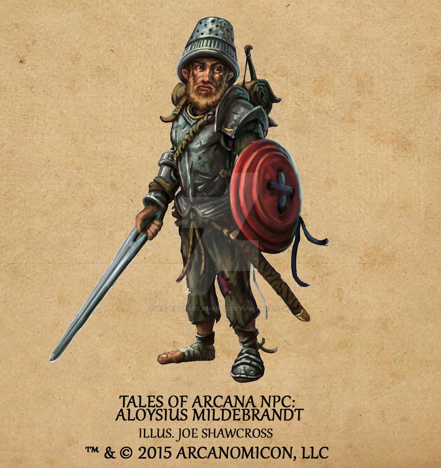 Tales of Arcana NPC - Aloysius Mildebrandt by TalesofArcanaRPG